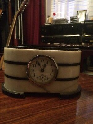Beautiful Art Deco  Marble Mantle Clock
