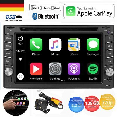 "6.2"" iPhone Carplay Autoradio Car Stereo DVD Player Touch Screen Hintere Kamera"