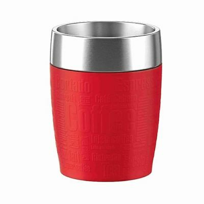 Emsa Travel Cup Thermobecher / Isobecher 0,2l Edelstahl rot, 515681