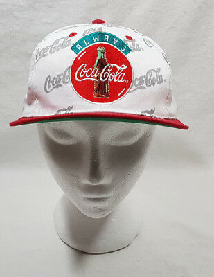 Coca Cola Baseball Hat Red Lid White Cap with Patch Adjustable NEW
