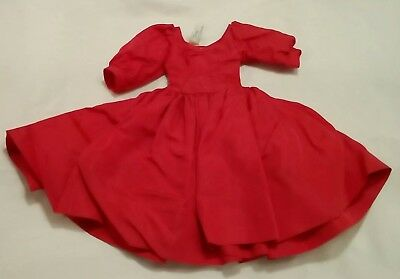 Vintage 1950s TAGGED Madame Alexander CISSY Red TAFFETA Dress with sleeves