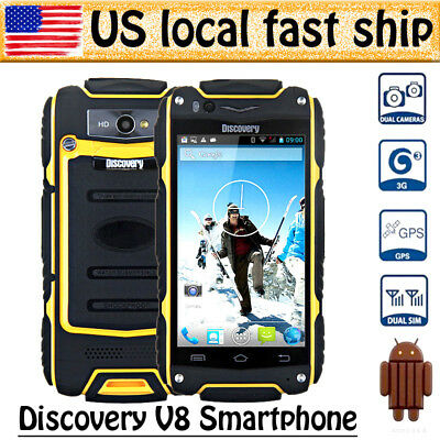 "Yellow 4"" Discovery V8 Android 3G Smartphone MTK6572 GPS 4GB Dual Core Dual Sim"