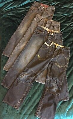 Boys Jeans Bundle Next Age 10 Straight Leg X 4 Pairs Blue