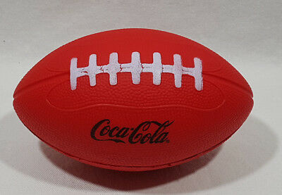 "Coca Cola Football Soft Sponge Red with Black Letters 7"" Long X 4"" Diameter NEW"