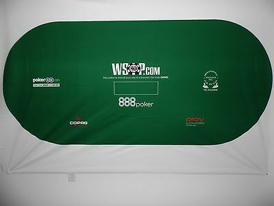 Official Rio WSOP - 2017 World Series of Poker - 8' Poker Table Layout - Second