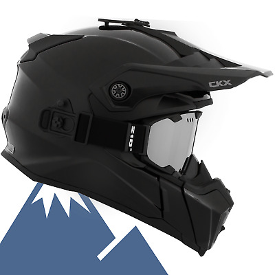 CKX 2018 Titan Solid / Carbon Modular Off-Road Snowmobile Helmet