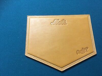 "RAWLINGS Brown Leather ""New York Mets"" Mouse Pad"