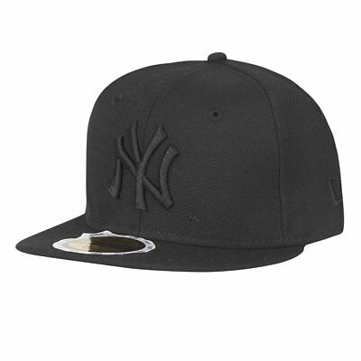 New Era 59Fifty KIDS Cap - BLACK ON BLACK NY Yankees