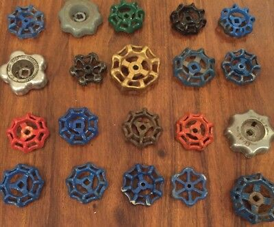20 Vintage Antique Water Faucet Knob/valve Handles Steampunk Industrial Art