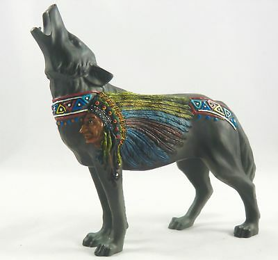 Call of the Wolf Indian & Headdress by Westland Giftware, Very Nice Rare Piece.