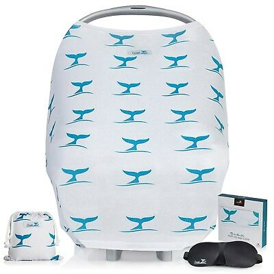 Stretchy Baby Car Seat Covers | Baby Shower GIFT SET | Nursing Cover for Brea...