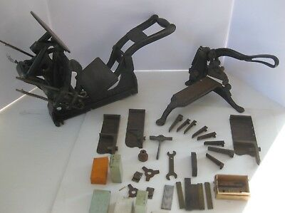 VINTAGE KELSEY EXCELSIOR 3x5 Printing Press WITH SHEET CUTTER AND MANY XXTRAS