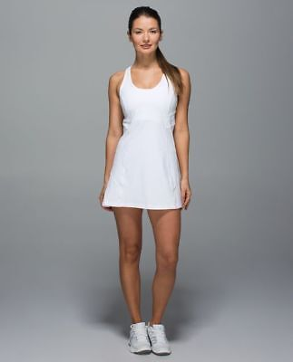 NWT LULULEMON ACE Dress White Sz 2 XXS Womens Tennis Flounce Skirt ... d6ffe4932