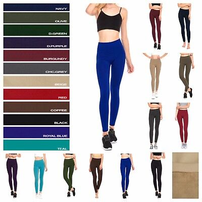 1- 3- 6 PACK Women Fleece Lined Leggings Lot Casual Thick Winter Warm Thermal