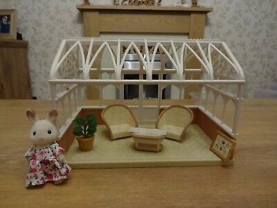 Sylvanian Families Conservatory, furniture and figure bundle. Calico Critters