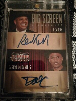 RUN DMC AUTO 2015 Panini Americana Big Screen #95/99 Hip Hop Rap