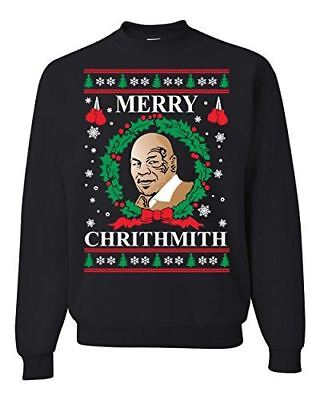 Merry Chrithmith Mike Tyson Ugly Christmas Sweater Funny Unisex Humor Sweatshirt