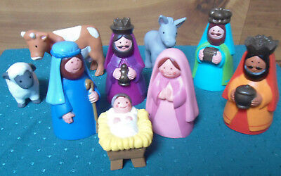 Avon Kids My First Christmas Story Complete Set - Holy Family, Wise Men, Animals