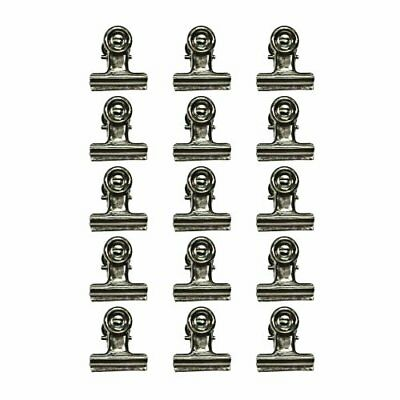 Tim Holtz Idea-ology TH92692 Metal Hinge Clips, 1-Inch, Pack of 15, Antique Nick