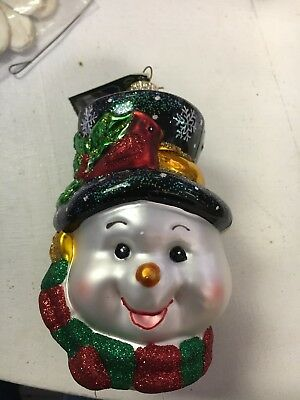 OLd World Christmas Colorful Snowman Ornament