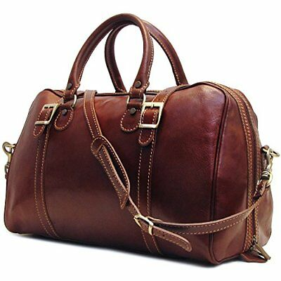 Floto Luggage Trastevere Duffle Travel Bag, Vecchio Brown, Medium, New