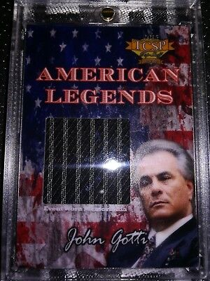 John Gotti Event Worn Trading Card #79/105 TCSP Mafia Mobster Crime Gambino