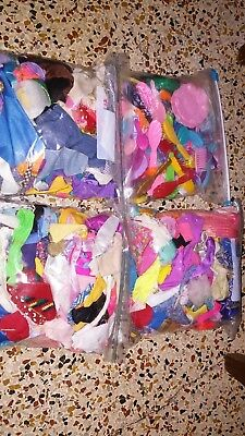 Huge Lot of Barbie Fashion Doll Clothes over 200 outfits. Lots of combs mixed