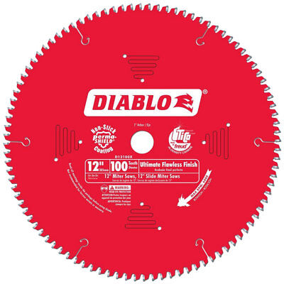 "Diablo D12100X 12""x100T Ultimate Flawless Finish Circ Saw Blade New"