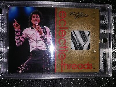 Michael Jackson King of Pop Panini 2011 Eclectic Threads Event worn Trading Card