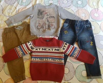 Boys Next Christmas & Dinosaur Jumpers & Jeans Outfits Bundle Age 2-3/3