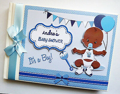 African - American Baby Boy Baby Shower Guest Book - Any Design