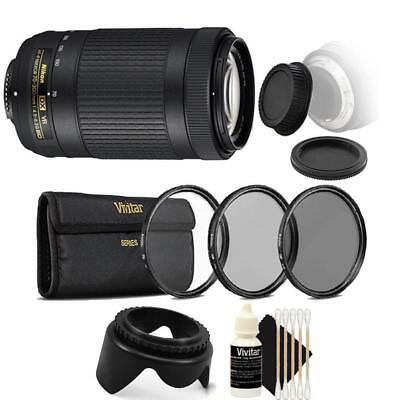 Nikon AF-P DX NIKKOR 70-300mm f/4.5-6.3G ED VR Lens with Accessory Kit