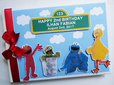 Personalised Sesame Street First/1St Birthday Guest Book - Any Design