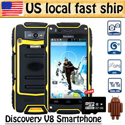 """Yellow 4"""" Discovery V8 Android 3G Smartphone MTK6572 Dual Core Dual Sim+32G Card"""