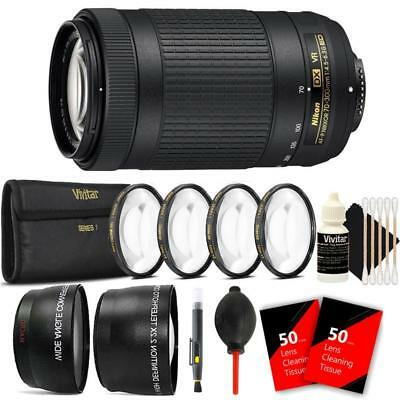 Nikon AF-P DX NIKKOR 70-300mm f/4.5-6.3G ED VR Lens and Ultimate Accessory Kit
