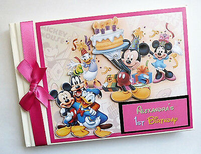 Disney Clubhouse Girl /first/1St Birthday Guest Book - Any Design