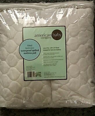 american baby fitted twin size quilted waterproof mattress pad