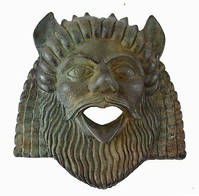 Satyr Small Mask with bronze color effect - Dionysus companion - Ancient Theatre