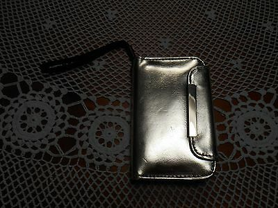 """Gold Cell Phone Credit Card Carrier Holder Wristlet 3""""X4.75""""(Holds 2.25"""" X 4.5"""")"""