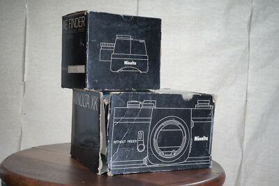 Minolta Boxes for XK Body and AE Finder  BOXES ONLY Box