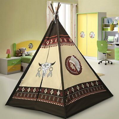 """Best Selling Indoor TeePee Tent – 70"""" Tall Kids Classic Indian Play Tent with"""