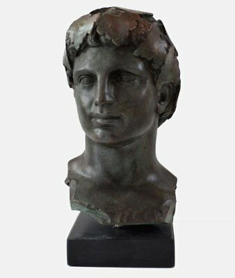 Dionysos Head bust with bronze color effect - Dionysus God of wine and madness