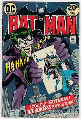 Batman #251 (1973) Neal Adams Classic Joker Cover Complete