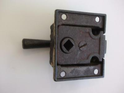 Antique Cupboard Cabinet Latch Cast Iron Eastlake Style (No Keeper)