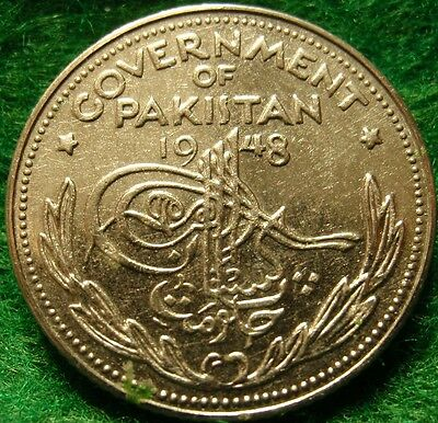 1948  PROOF ONE QUARTER 1/4 RUPEE PAKISTAN,Scarce rare coin