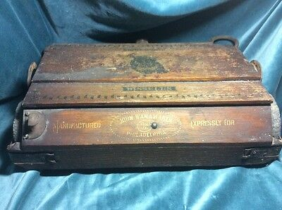 Antique John Wanamaker  Bissell Push Vacuum Sweeper Philadelphia PA