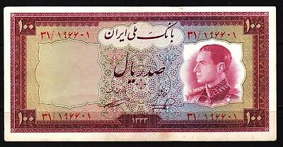 M-East ND1954/1333 MR. Shah Pahlavi 100 Rial Banknote P67 XF+++ Condition, SOLID