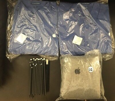 Rare BNWT Apple Employee Hoodie Work Shirt Pencils Pen