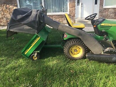 "John Deere MC519 material collection cart and 54"" Power Flow blower"
