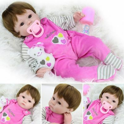 "16"" Silicone Liftlike Realistic Reborn Baby Doll Weighted Newborn Girl Gift Toy"